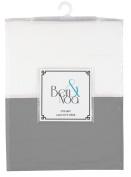 Ben & Noa Crib Skirt Percale, Grey