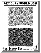 Flexistamps Texture Sheet Set Paisley Set (Including Paisley and Paisley Inverse)- 2 Pc.