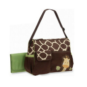 CSKB Best Designer Giraffe Nappy Tote Bag -Ladies Handbag Including Changing Pad, Insulated Bottle Holder Pocket and Perfect for Travel