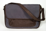 SoYoung Nappy Clutch in Waxed Canvas - Charcoal