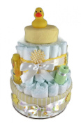 Sunshine Gift Baskets - Little Ducky Nappy Cake Gift Set