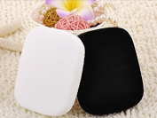 Topwon Bamboo Charcoal Face Cleaning Sponge Powder Puff Kit - Black