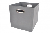 Modern Littles Bold Solid Folding Storage Bin, Grey
