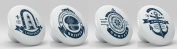 Nautical Sea Icon Ceramic Knobs Set of 4