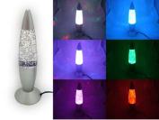 USB Multi Colour Changing Lava Lamp LED Glitter Party Mood Night Light