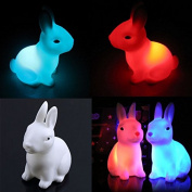 Hotsale Colour Changing LED Lamp Night Light Rabbit Shape Home Party Decor Gift