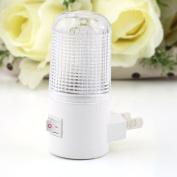 4 LED Wall Mounting Bedroom Night Lamp Licht Light Plug Lighting Bulb AC 1W FE