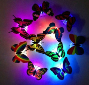 New Colourful Romantic LED Butterfly Night LED Light Home Room Decor Lamp TopSale