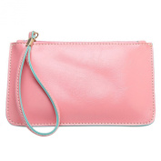 Sanwood® Candy Colour Womens Waxy Leather Cluth Party Bag Zipper Handbag Wallet