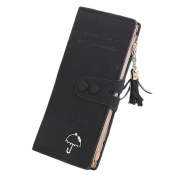 Sanwood® Elegant Lady Faux Leather Wallet Tassel Zip Purse Card Holder Matte Bag