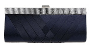 Womens Pleated Evening Bags Wedding Purse Party Clutch