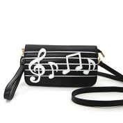 Far Nine Faux Leather Music Themed Wallet Shoulder Bag