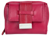 Women's Dark Pink Nice Quality Soft Genuine Leather Wallet Roberto