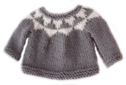 KSS Handmade Dark Grey/White Sweater