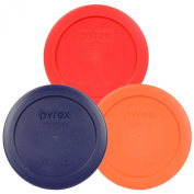 Pyrex 7200-PC 2 Cup Round 11cm Storage Lid Cover 3 Pack