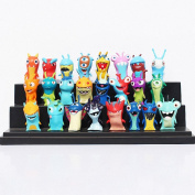 24pcs/set Anime Cartoon 4.5-5cm Mini Slugterra PVC Action Figures Toys Dolls Child Toys