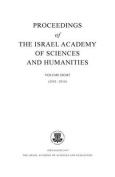 Proceedings of the Israel Academy of Sciences and Humanities, Volume Eight