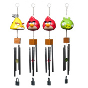 4 Angry Birds Toys Wind Chimes Set Musical Indoor Outdoor Yard Porch Room Décor