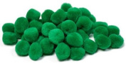 Package of 270 Fluffy Green Craft Pom Poms 1.9cm in Diameter for Crafting, Creating and Embellishing