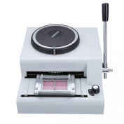 Iglobalbuy 72-Character Manual PVC Card Embosser Credit ID VIP Embossing Machine 72 Letter