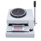 Iglobalbuy 72-Character Manual PVC Card Embosser Credit ID VIP Embossing Machine 72 Letter