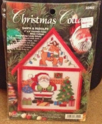 Christmas Cottage Counted Cross Stitch - Santa & Rudolph1