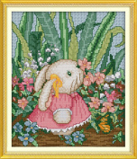 Benway Counted Cross Stitch Lovely Rabbit (2) 14 Count 23x26cm