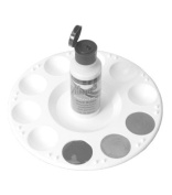 Plastic Paint Palette - 18cm w/10 Paint Wells