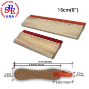 "15cm(6"")silk Screen Printing Squeegee Screen Printing Material Handle Woden Squeegee Oiliness 75duro"