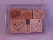 Stampin' Up! LOVE YOU MUCH Set of 6 Decorative Rubber Stamps Retired