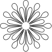 Quilting Creations Splash Medallion Continuous Line Quilting Stencil, 23cm