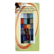Assorted Sewing Thread Kit - 24 Colours, 3 Needles & 1 Threader