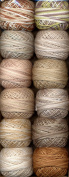 Valdani Size 8 Perle Cotton Embroidery Thread Beige & Browns Collection