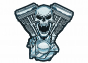 Lethal Threat (LT30069) Skull Motor Embroidered Patch