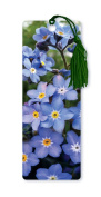 Dimension 9 3D Lenticular Bookmark with Tassel, Purple Forget-Me-Not Flowers