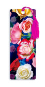 Dimension 9 3D Lenticular Bookmark with Tassel, Roses