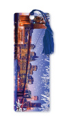 Dimension 9 3D Lenticular Bookmark with Tassel, Brooklyn Bridge Christmas, Winter in New York City Series