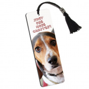 Cute Beagle Just One More Chapter Printed Bookmark with Tassel