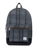 Herschel Supply Company Settlement Casual Daypack, 120cm , Plaid/ Black/ Black Leather