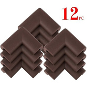 AWESOME® 12 PCS Cushiony Table Furniture Childproofing Corner Guards Protectors Baby Safety Extra Dense Non Toxic Edge & Corner Guard Bumpers Coffee