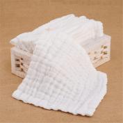 3-Pack Gauze Muslin Square,Organics Baby Washcloths, Premium Reusable Wipes - Extra Soft For Sensitive Skin,Newborn Muslin Warm Baby Bath Towels Pure White