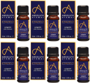 (6 PACK) - Absolute Aromas - Organic Lemon Oil | 10ml | 6 PACK BUNDLE
