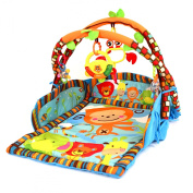 baby playmat 3 in 1 double arch gym play mat & lounger with music and lights