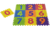 BUDA BABY 0-9 GIANT NUMBERS PLAY MAT BABY CHILDREN SOFT FOAM JIGSAW PUZZLE A-Z LEARNINGSOFT FOAM EVA PLAY MAT 0-9 LEARNING