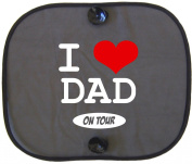I LOVE DAD ON TOUR Car Sun Shade for Children