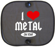I LOVE METAL ON TOUR Car Sun Shade for Children