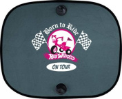BORN TO RIDE on Tour Hot Windels Car Sun Shade for Children