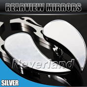 Aridox(TM) 2pcs 8mm 10mm Universal Motorcycle Rearview Rear View Side Mirror for Honda for Yamaha for Suzuki Chrome C20