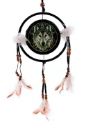 Decorative Celtic Wolf Head 16cm Dreamcatcher