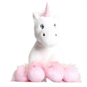 "White Unicorn with Sparkly Hooves Teddy Bear 16"" (40cm) Stuff Build Your Own Bear Kit No Sewing"